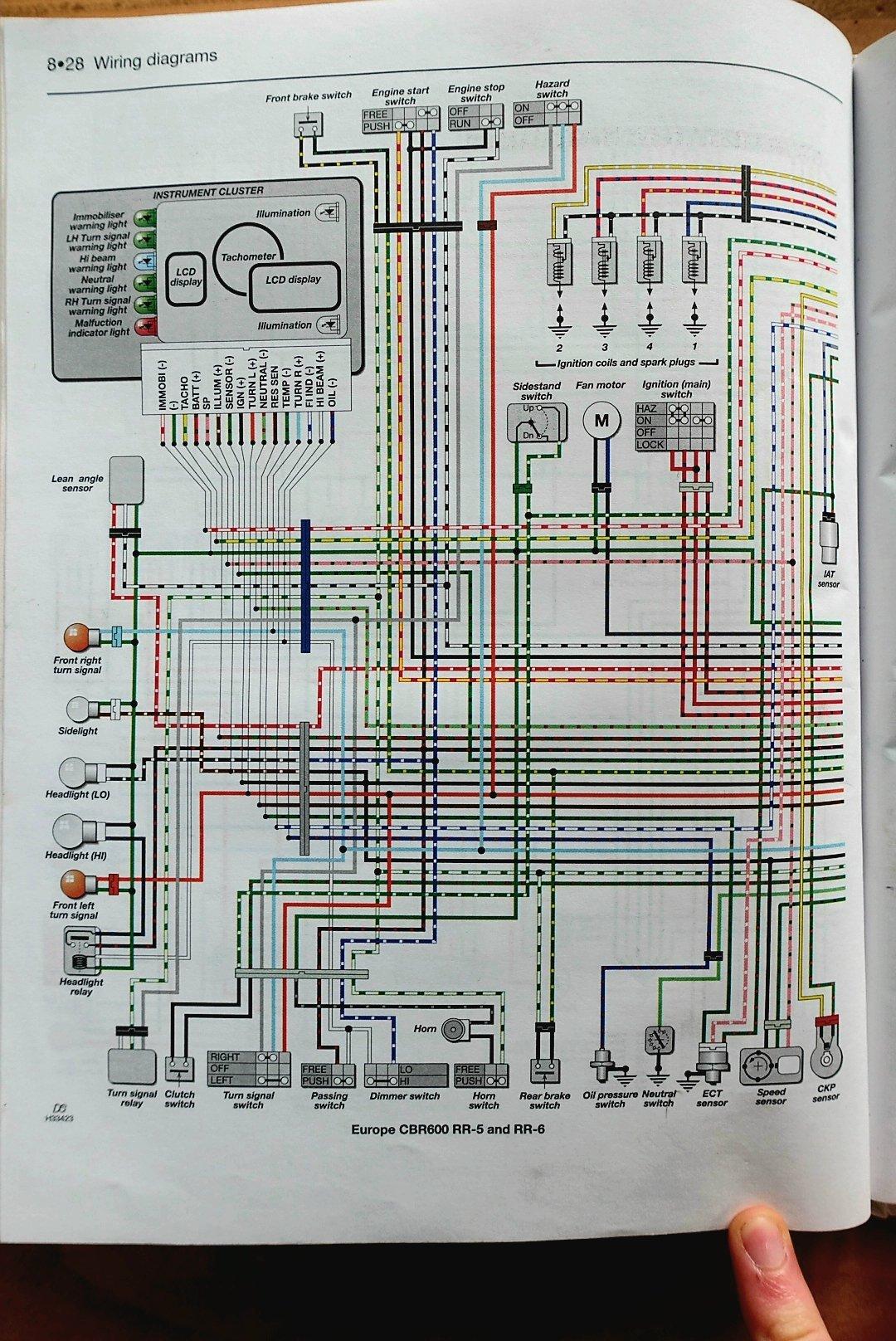 Wiring Schematic Diagram For A 2006 Cbr600rr