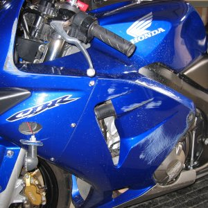 04 Candy Blue 600RR Damage